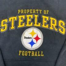 Reebok NFL Property of Steelers Hoodie Mens Large Long Sleeve Yellow Black - $18.95