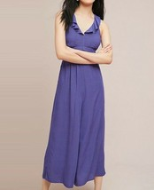 Anthropologie Justine Ruffled-Printed Jumpsuit by Maeve $158 Sz 8 - NWT - $89.99