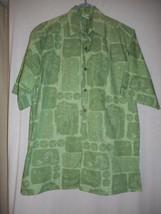 Go Barefoot Hawaiian Shirt MADE in USA Sz M 100% cotton Destination Wedding - $39.59