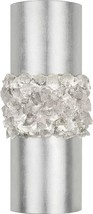 Sconce ARCTIC HALO 3-Light Platinized Silver Leaf Crystal - $1,899.00
