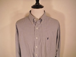 EUC Mens Polo Ralph Lauren Blake Pony Logo Plaid Checks L/S Button Up Sh... - $24.78