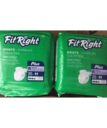 Fit Right Briefs Plus Regular 40 Count  2 Packa... - $29.65