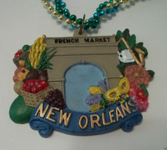 French Market New Orleans Mardi Gras Bead Beads Necklace - $6.55 CAD