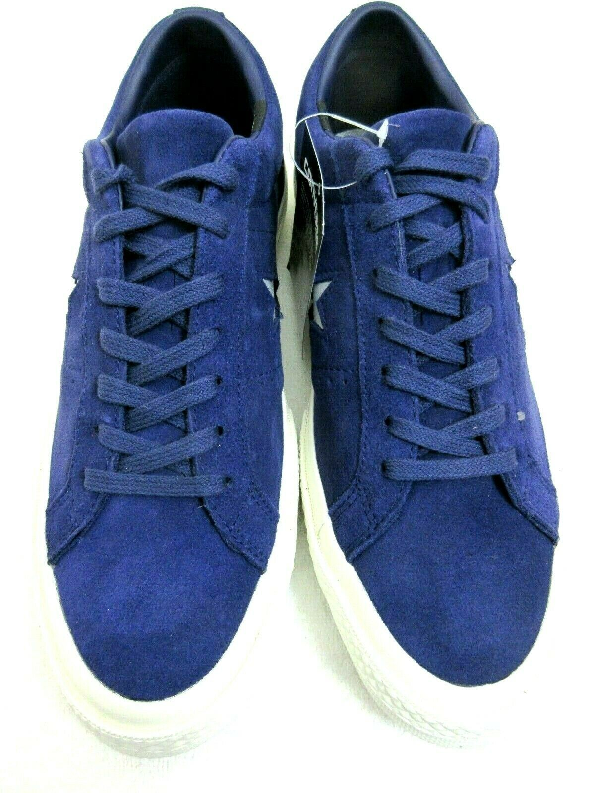 Converse One Star Ox Mens Midnight Indigo Purple Silver Suede Shoes Size 8 New  image 4