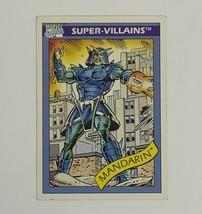Marvel Universe 1990 Series 1 76 Mandarin Trading Card Super-Villains - $1.97