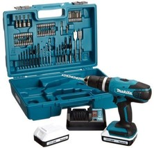 Makita G-Series 18V Cordless Combi Drill with 74 Accessories 16 Torque S... - $237.32