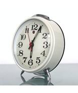 Retro FIVE RAMS Clock Mantel Alarm CHROME! Top Condition! Mid Century Sp... - $65.00