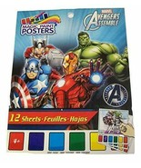Marvel Avengers Assemble Savvi Magic Paint Posters ~ Heroes in Action! (... - $6.85