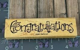 Stampin' Up! Congratulations Rubber Stamp 2003 Grad Cap Diploma Wood #AC31 - $3.47