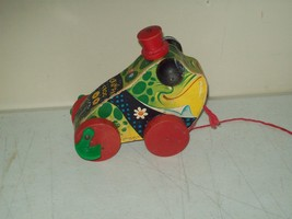 Fisher Price Gran'Pa Frog pull toy no. 464 Rare fisher price from 1956 f... - $24.75