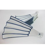 Asian Blue And White Fan Shaped Porcelain Dishes Plates For Seafood Sush... - $42.00