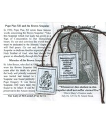 Brown Scapular of Our Lady of Mount Carmel with Pamphlet - 100% WOOL - $2.99