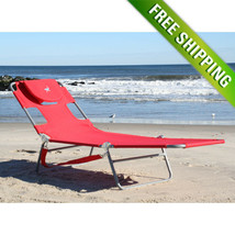 Portable Ostrich Lawn Chair Folding Outdoor Chaise Lounge Pool Beach Pat... - $63.20