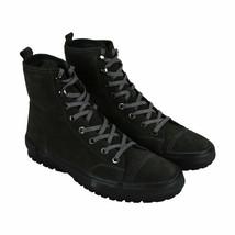 Mens Frye Ryan Military Dark Gray Leather Hiking Boots Size 10 Weatherproof - $109.99
