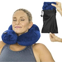 Xtra-Comfort Inflatable Travel Neck Pillow - Headrest Cushion for (Blue) - €20,23 EUR