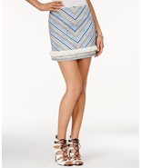 Guess Mid-Rise Embroidered A-Line Miniskirt, Size M - $25.00