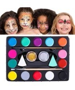 Unomor 14 Color Face Paint Kits for Kids with 40 Stencils, 2 Professiona... - $14.79