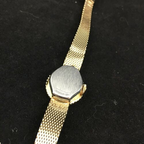 Vintage Helbros Watch 10 Diamonds 21 Jewels Gold Toned for Parts or Repair