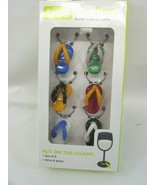 True Glass Flip Flop Wine Glass Charms Drink Markers Set of 6 32295 - $23.75