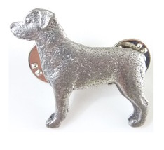 "Rottweiler Dog Pewter Pin 1 1/8"" - $18.99"