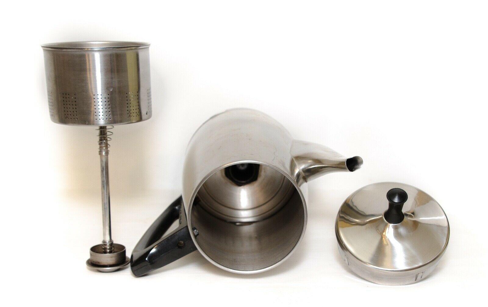Vintage Charlescraft Coffee Percolator Stainless Steel 12-Cup Model AP-12