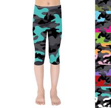 Dark Camouflage Kids Capri Leggings - $35.99+