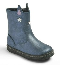 Cat & Jack Toddler Girls' Molly cat Kitten Blue Fashion Boots size 7 New w Tags
