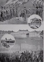 1910 PRINT KING EDWARD VII 1864 ROYAL VISIT TO SWEDEN ULRICKSDAL GRIPSHOLM - $26.98