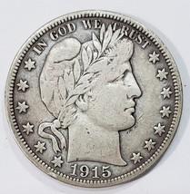 1915S Liberty Barber Head Half Dollar 50¢ Silver Coin Lot MZ 4850