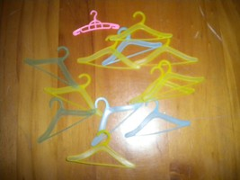 """Lot 13 Multicolor 2 7/8"""" Clothes Hangers for 12"""" Dolls 1990s - $4.94"""