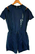 NWT Diesel Women's Midnight/Blue J-Auril Drawstring Cold Shoulder Romper... - $64.39
