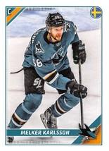 2019-20 Topps NHL Stickers #408 Melker Karlsson Sharks - $1.49