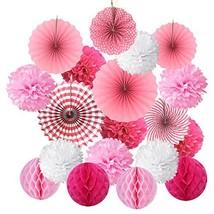 Cocodeko SG_B0771B8PGW_US Hanging Set, Tissue Paper Poms Flower Fan and ... - $17.03