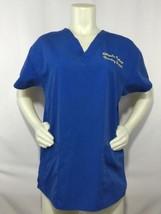 Dickies Nurses Scrub Top Blue Chipola College L 10/12 Yellow Nursing Stu... - $24.50