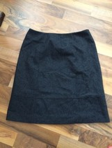 J.Crew Pencil Skirt Size 4 Wool Blend Gray Fully Lined Flat Front No Slit - $22.29