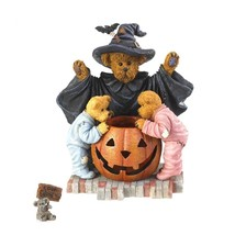 "Boyds Bearstone ""Witchella with Peek, Boo and Nibbley"" #4022267- 1E -NIB - $44.99"