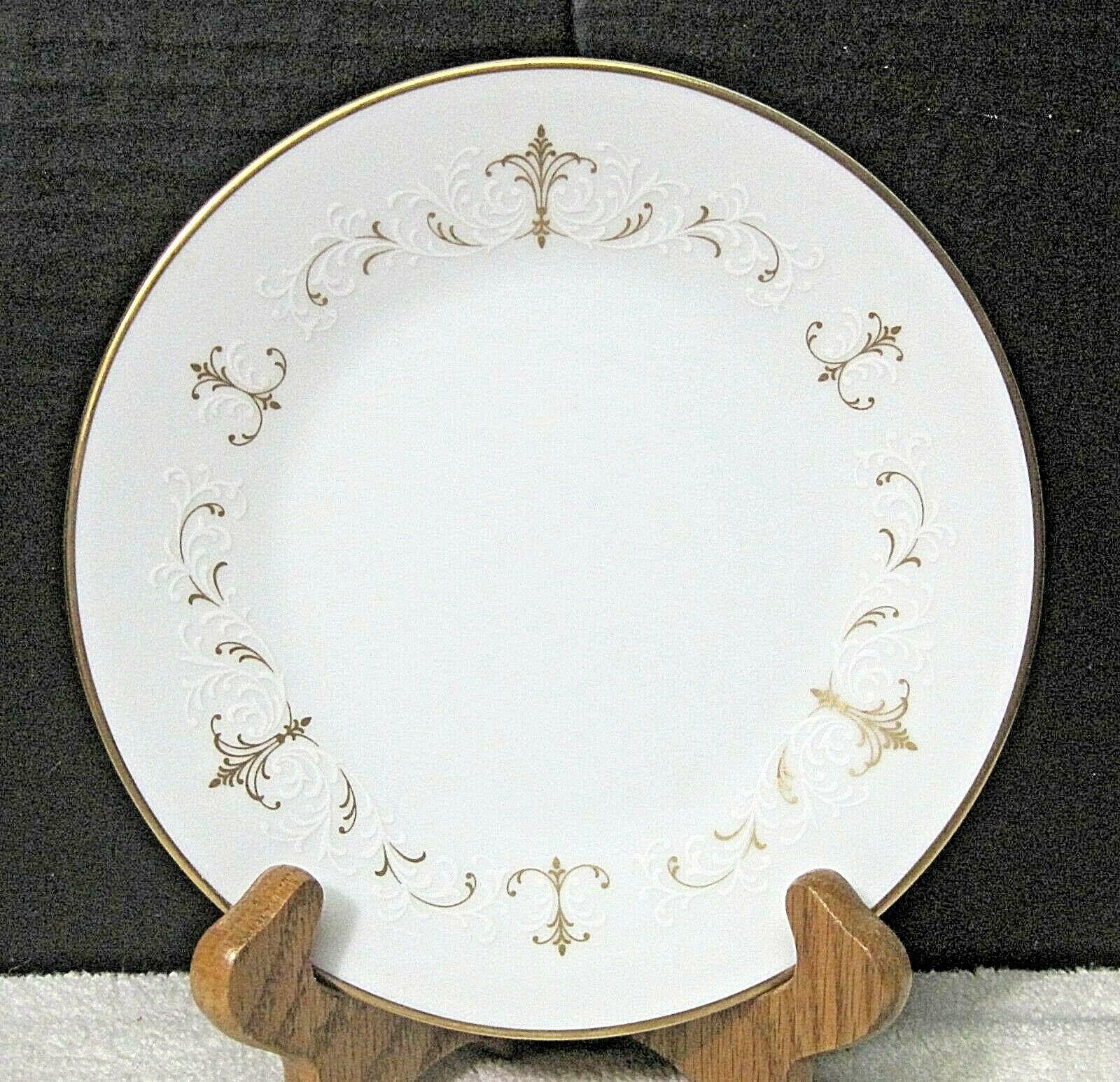 Noritake Courtney #6520 1964-1980 Gold White Scroll Bread Butter Cake Plate 1PC  - $7.92