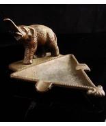 Antique Elephant Ashtray - Vintage brass Souvenir - dresser trinket tray... - $75.00