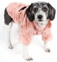Pink Mink Luxury Designer Fashion Pet Dog Coat Jacket with Accented Bow ... - $22.74
