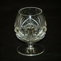 "Gorham Crystal Cherrywood Clear 4-1/4"" Brandy Glass Cut Criss Cross Fan on Bowl - $39.59"