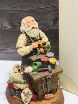 June McKenna The Toy Maker Santa Statue Signed 1990 Registered Ed w BOX ... - $74.25