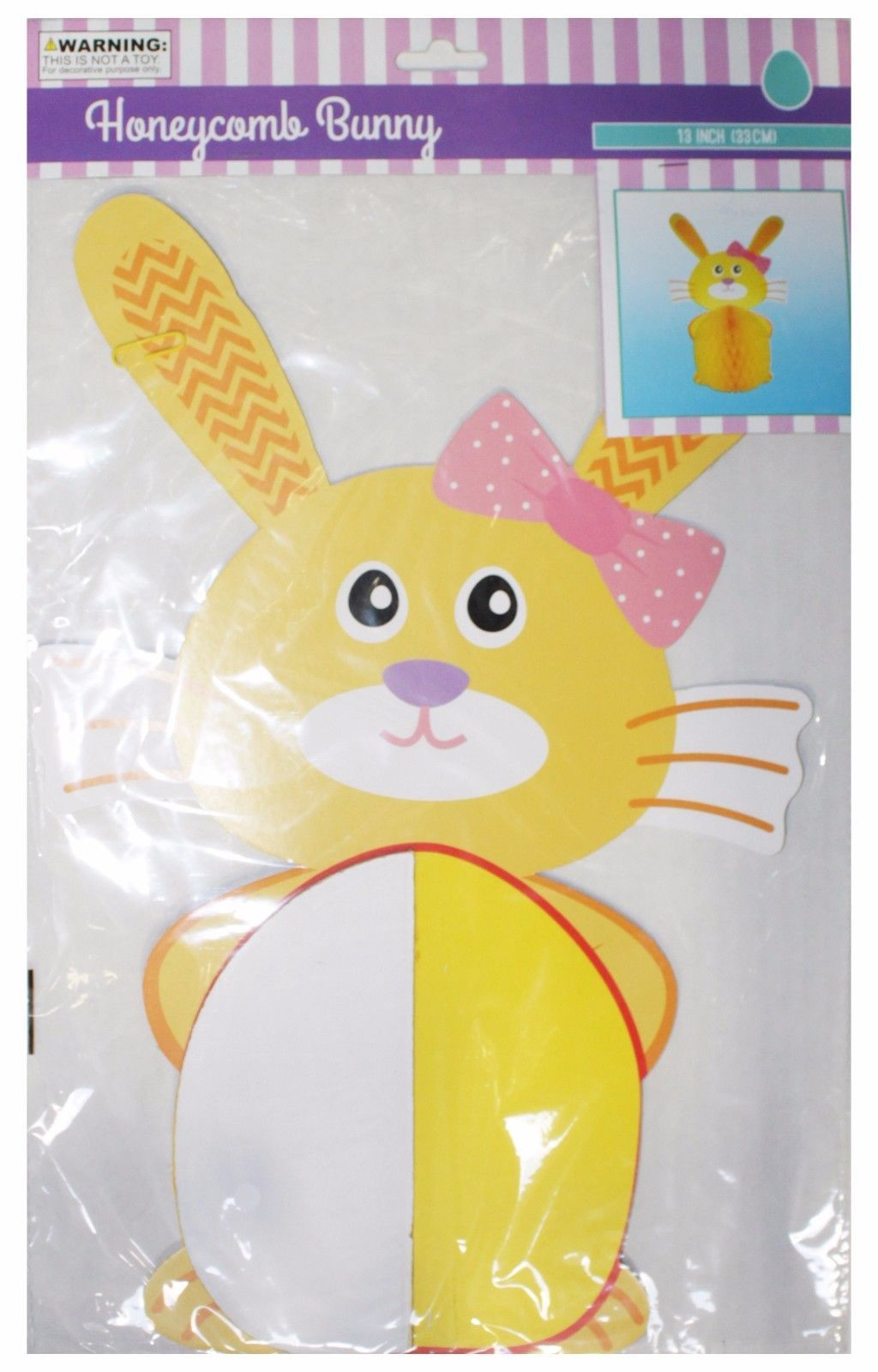 MOMENTUM* Party Decor HONEYCOMB BUNNY Home Decoration EASTER New! *YOU CHOOSE*