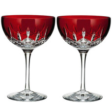 Waterford Crystal Lismore Pops Red Cocktail Set of 2 #40026613 New in Box - $286.90