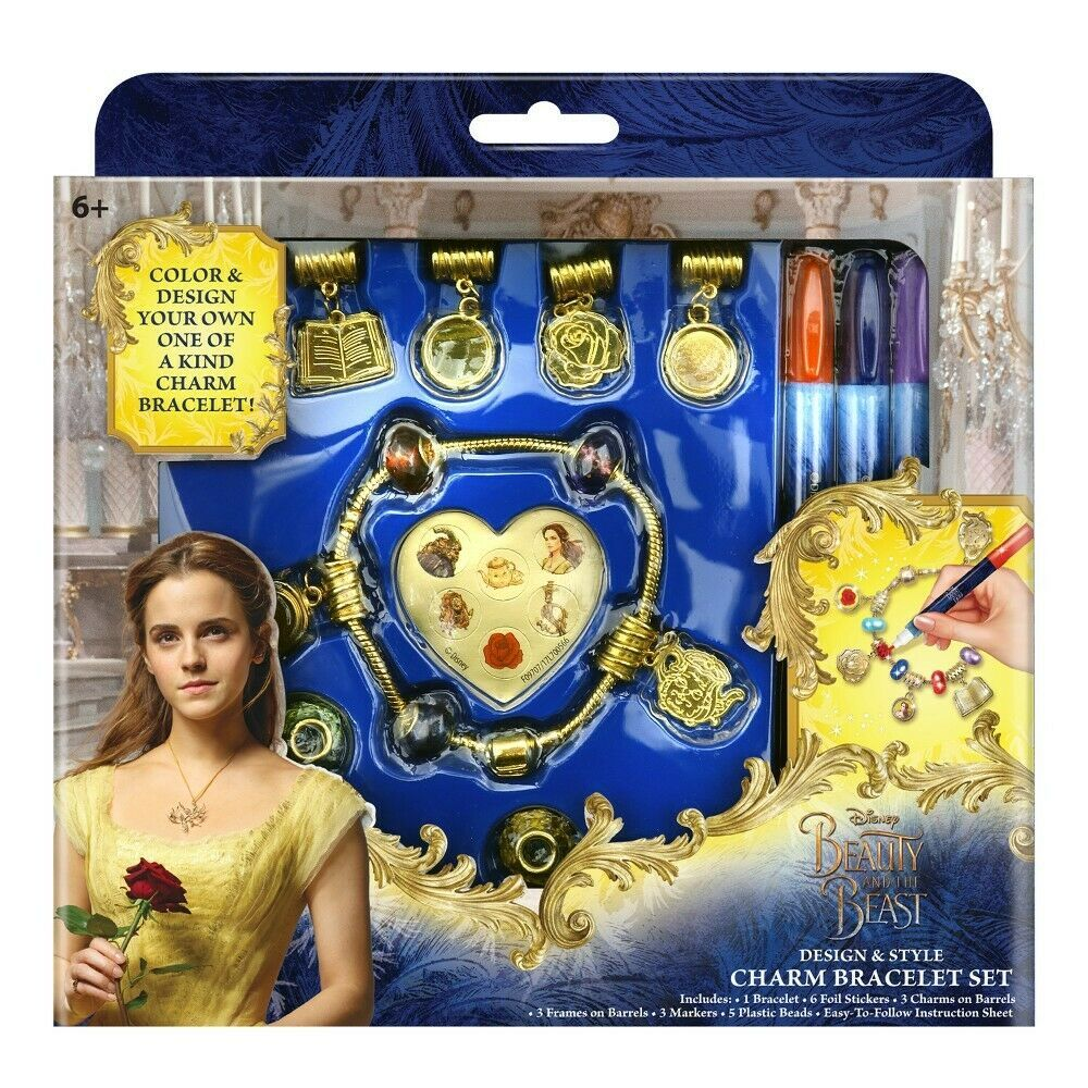 Disney Beauty And The Beast Design & Style Charm Bracelet Set NIB