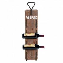 Wine Bottle Wall Rack With Metal Handle - $53.64