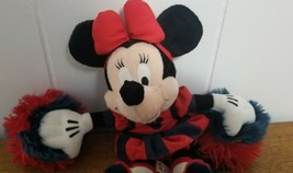 Disney Minnie Mouse Cheerleader Plush Doll Red White Blue - $5.00