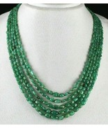 CERTIFIED NATURAL OLD EMERALD BEADS CABOCHON 5 LINE 322 CARATS GEMSTONE ... - $1,757.50