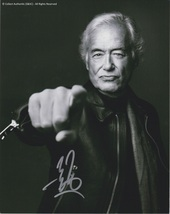 Jimmy Page Autographed Led Zeppelin Glossy 8x10 Photo - $269.00
