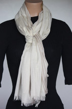 NEW Style & Co Champagne Metallic Women's Neck Scarf Wrap size 26x80 - $8.90