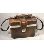 VINTAGE 1970S VELVET LINED SHOULDER STRAP CAMERA BAG WITH KEY - $49.49